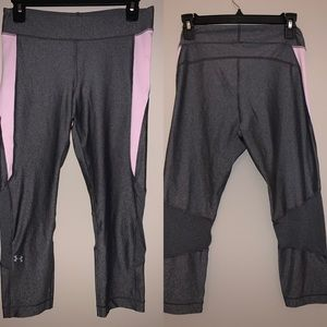 Under Armour grey&pink leggings